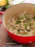 優しい味!塩大根と豚バラ肉のガーリック風味ほっこり煮