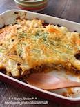 マッシュポテトと挽き肉のWチーズ焼き