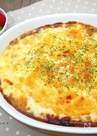 『レンジで簡単ホワイトソースの卵乗せ焼きカレー【リメイク】』
