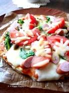 菜の花とWチーズのフライパンピザ