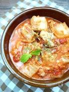 白菜と鶏肉で♪味噌トマトチーズ煮込み