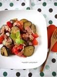 茄子とトマトの夏野菜シンプルペッパー炒め