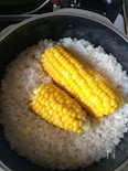 トウモロコシ丸ごと部搗きご飯
