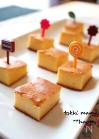 『ルクエ使用♪生クリームなしで簡単チーズケーキ』