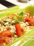 ルクエで♪トマトと豚肉の味噌チーズ蒸し
