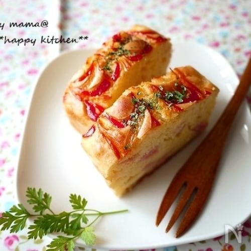 ホットケーキミックスで♪栄養満点お惣菜ケーキ