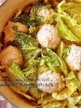 白菜たっぷり♪生姜風味のあったか肉団子鍋