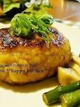 お肉なしでヘルシー♪鮭とはんぺんの照り焼きハンバーグ