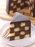 チェッカー柄のケーキ★サン・セバスチャン