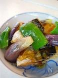 塩サバ立田揚げと茄子の甘酢あんかけ