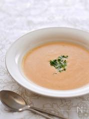 カレー風味のトマト豆乳スープ