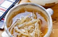 冷凍もやしの中華スープ