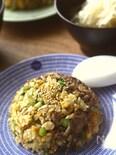 牛肉とオイスターソースの炒飯