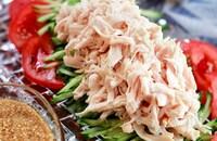 【鶏ささ身ときゅうりの棒棒鶏】〜生姜風味♬︎中華ゴマだれ〜