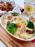 ヘルシー*豆腐クリームの根菜グラタン
