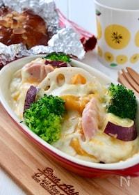 『ヘルシー*豆腐クリームの根菜グラタン』