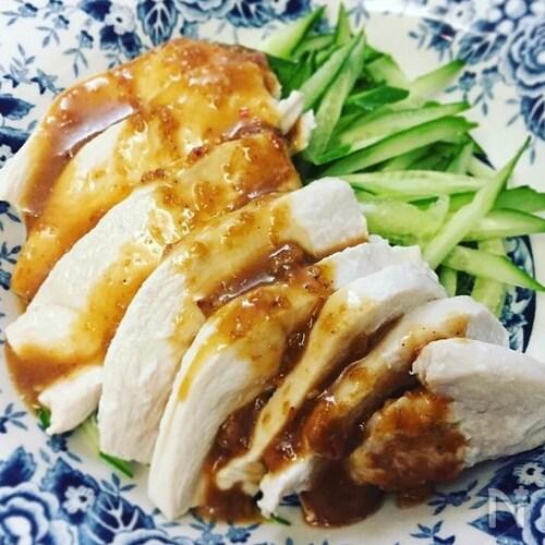 【大さじ調理のみ】ゆで鶏の作り方 (簡単なのに、しっとり!)