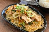 レンチンでサッと副菜!【ネギ塩チャプチェ】