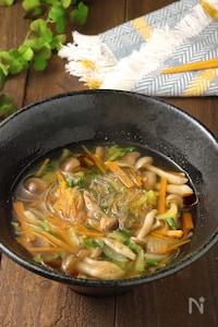デトックスしたい日に♪野菜の旨味たっぷり春雨スープ