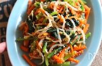 【野菜がもりもり食べられる!やみつき3色ナムル】レンジで簡単