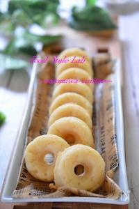健康おやつに♡豆腐と米粉のもっちり焼きドーナツ☆卵不使用♪