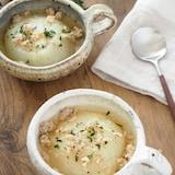 【余ったひき肉を活用】短時間でとろとろ♪新玉ねぎのスープ