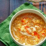 もやしとひき肉の酸辣湯風かき玉スープ