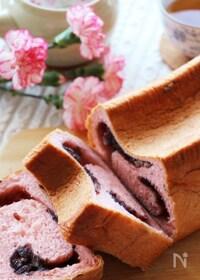 『桜の時期に食べたい♡HBで簡単♪桜香る桜餅風の餡ロール食パン』