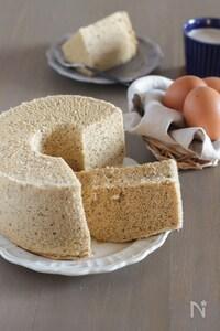 ふわっふわ♪米粉で作るミルクティーシフォンケーキ