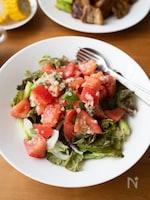 『トマトとバジルの粒マスタードマリネ』#簡単#夏バテ防止
