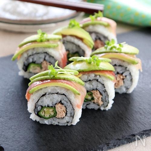 生ハムとアボカドのロール寿司