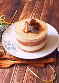 『ほうじ茶で、和風ティラミス〜クリアファイルでホームケーキ』