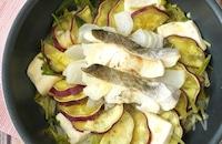ワンパンほったらかし無水調理♪鱈とたっぷりお野菜蒸し