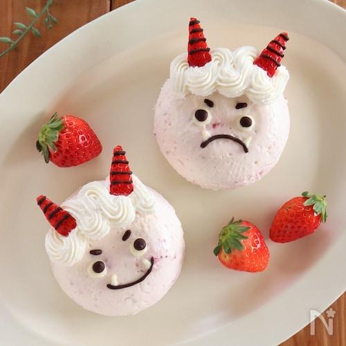 赤鬼さんのいちごレアチーズケーキ