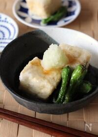 『フライパンで作る揚げ出し豆腐』