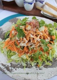 『バンバンジーサラダ§旨ダレで鶏むね肉と野菜いっぱい食べよう』