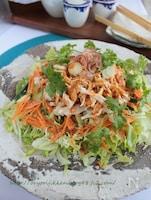 バンバンジーサラダ§旨ダレで鶏むね肉と野菜いっぱい食べよう