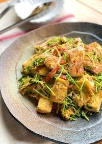 『コスパ最強!豆苗とカニカマの豆腐チャンプルー』