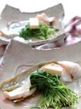 豆苗とタラの簡単塩糀蒸し