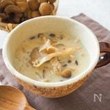 とろ〜り♪いろいろきのこの豆乳スープ