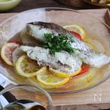 【レンジ調理OK】真鯛と新玉ねぎのレモン蒸し