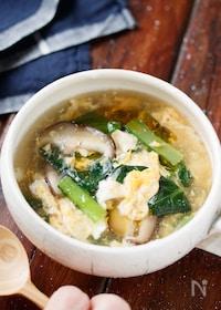 『ふんわり卵と小松菜のとろみ中華スープ【#簡単#スープ】』