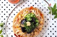 さっぱり!トマト麺つゆ素麺【包丁も火も使わない】