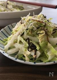 『5分で簡単副菜♪【白菜とキャベツのさっぱりサラダ】』