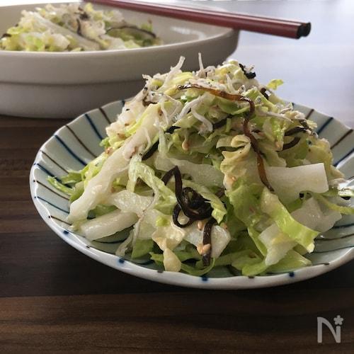 5分で簡単副菜♪【白菜とキャベツのさっぱりサラダ】