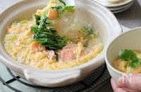 【栁川さん家の休日朝ごはん~第9回~】寒い日の朝ごはんに!冬のふわふわ卵雑炊で温まろう