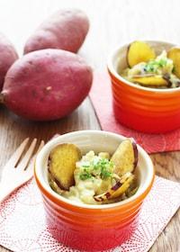 『【デパ地下風】5分で作れる!焼き芋のスイーツサラダ』
