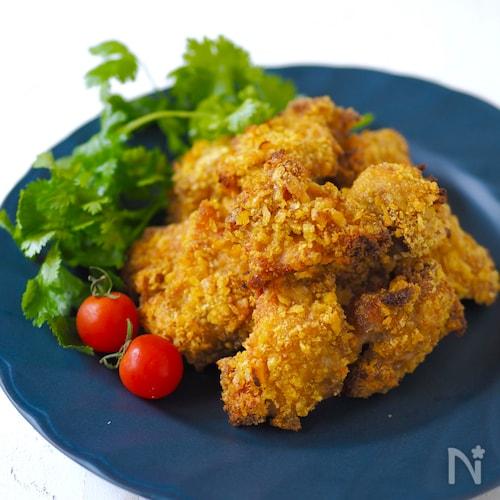 トースターで簡単!鶏のコーンフレーク焼き〜カレー味