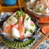 シャキシャキ長芋とカニカマの甘酢サラダ