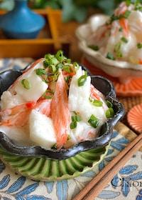 『シャキシャキ長芋とカニカマの甘酢サラダ』